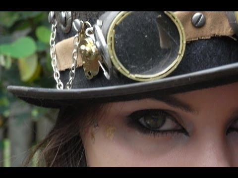 Steampunk 'Inspired' Makeup Tutorial and Costume -- Halloween
