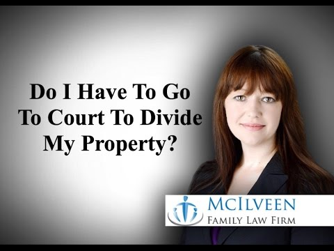 NC Divorce Law - Do I Have To Go To Court To Divide My Property?