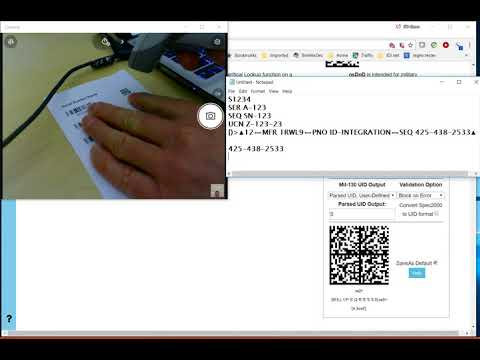 BarCodeOS Data Filtering: Military Serial Numbers