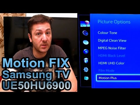 Samsung TV Judder Motion FIX - Best Picture Settings (HU6900 series)