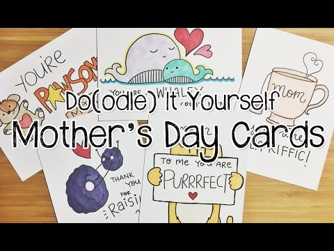 5 Pun-tastic DIY Mother's Day Card Doodles   Doodle with Me