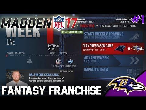 DRAFTING THE TEAM! | Madden 17 Fantasy Football Franchise - Ep.1