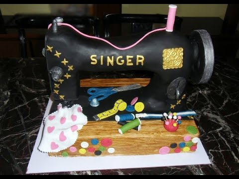 Cake sewing machine Singer  Tarta máquina de coser Singer كعكة آلة الخياطة سنجر