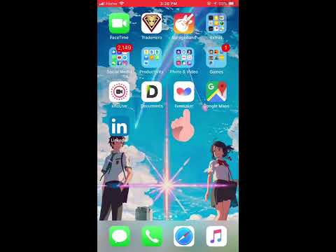 Your Name Live Wallpaper TUTORIAL (For Single iPhones)
