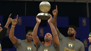 NBA 2K17 My Career - LeBron Gets Swept! Rim Protector Unlocked! CFG4! PS4 Pro 4K