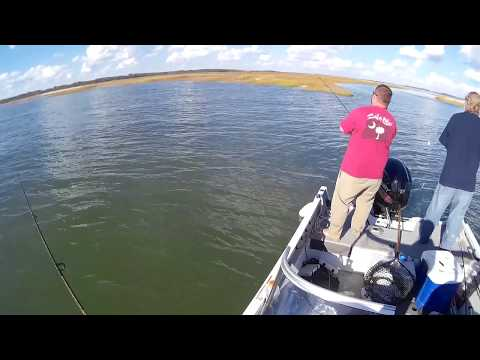 Beaufort South Carolina fishing near Parris Island for redfish and trout