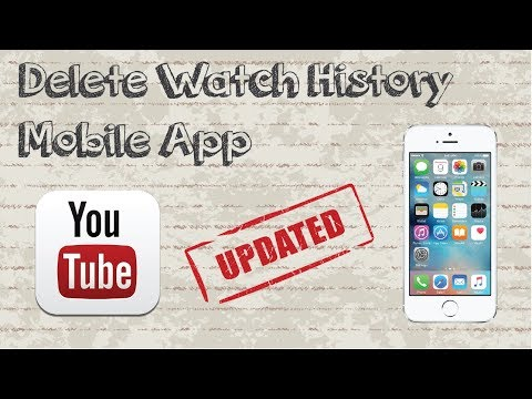 How to delete Youtube watch history on mobile app