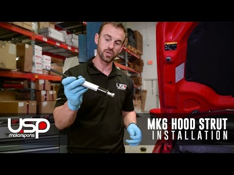 MK6 Jetta Hood Strut Kit Installation   USP Motorsports