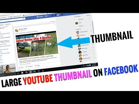 LARGE THUMBNAIL ON FACEBOOK | post video on fb properly