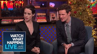 Claire Foy And Matt Smith On Prince Harry And Meghan Markle   WWHL