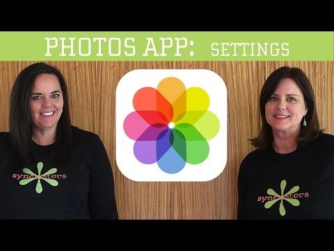 iPhone / iPad Photos App - Settings