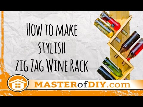 Zig Zag Wine Rack - How to make - DIY - Do it Yourself!