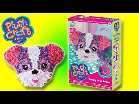 PLUSH CRAFT - PUPPY LOVE PILLOW - FABRIC FUN | Little Kelly & Friends ToysReview for Kids