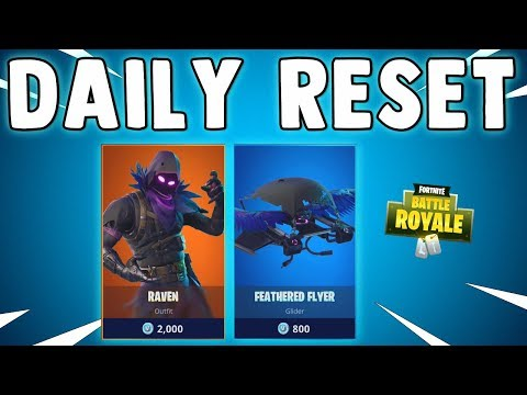 RAVEN SKIN & NEW ITEM SHOP FEATURES - Fortnite Daily Reset & New Items in Item Shop