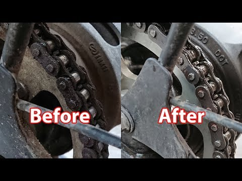 How to keep your bike chain lubed  and Rust free (Gixxer 150)