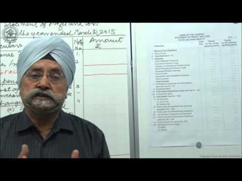 Statement of profit & loss as per schedule III Part 2 Cl XII AC by Dr  Balbir Singh