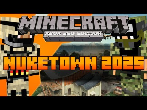 Minecraft (Xbox 360) PVP Map: Nuketown 2025 CTF/TDM [Download In Description]