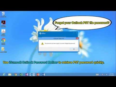 How to Open a Password Protected Outlook PST File without the Password 2016