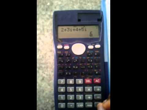CASIO fx-991MS Calculator Tutorial: Lesson 5- Dealing with complex numbers