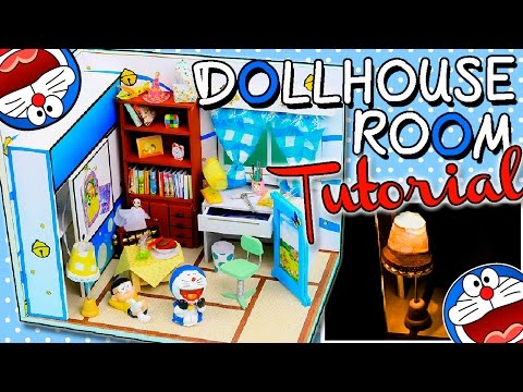 DIY Miniature Dollhouse Kit Bedroom With Working Lights | Relaxing Crafts | Room box