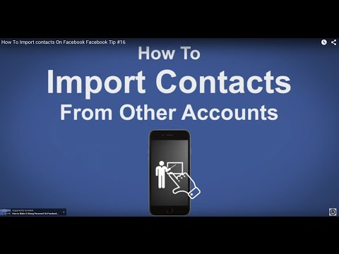 How To Import contacts On Facebook - Facebook Tip #16