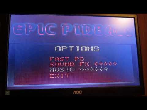 Epic Pinball Intro Title/Screen Music On A Creative SoundBlaster 64V