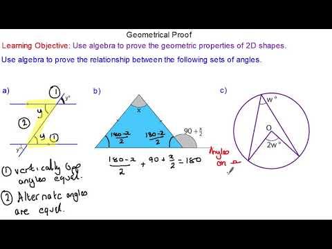 Geometry Proof for Higher GCSE Mathematics