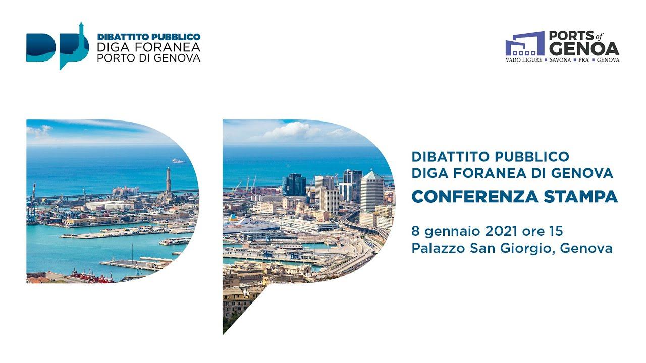 Diga foranea del Porto di Genova - Conf. Stampa Dibattito Pubblico