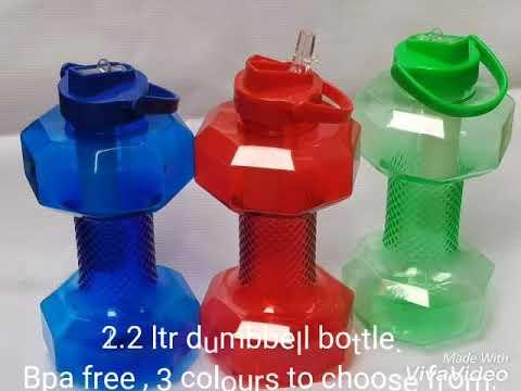 Dumbbell fitness bottle.