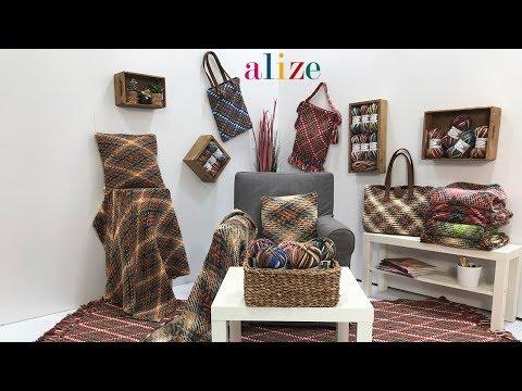 Ekose Çalışması - Working Plaid Pattern with Alize Superlana Maxi Multi Color