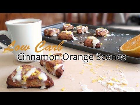 Keto Recipe - Low Carb Cinnamon Orange Scones