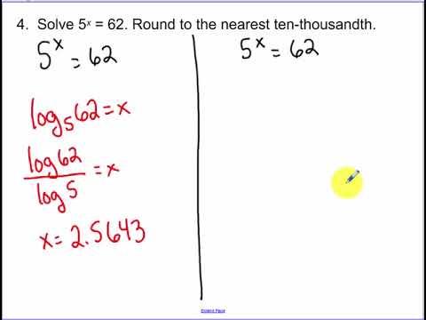 7.6 - Common Logarithms (2018)