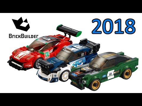 Lego Speed Champions 2018 compilation - Lego Speed Build