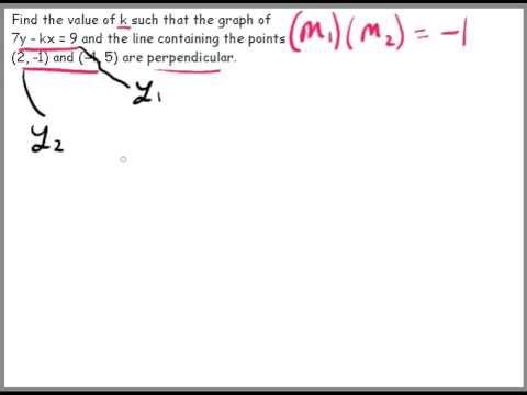 Tricky perpendicular line problem