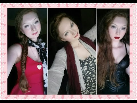 Valentine's Day GRWM 3 Outfits, Hair & Looks