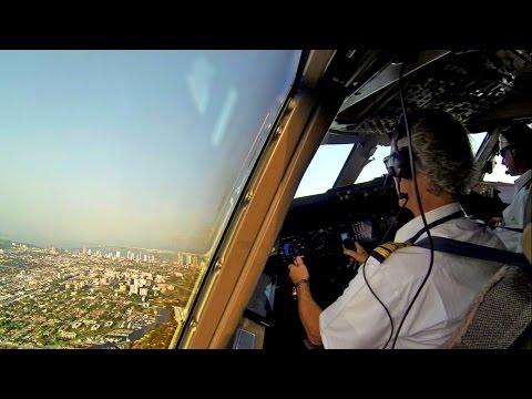 Captain's View - Boeing 747 Take-Off Miami Timelapse