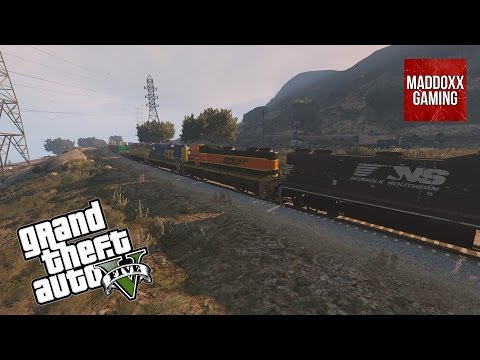 GTA 5 | Train with more different textures (liveries) preview | 1440p 60 Fps | MaddoxxGaming