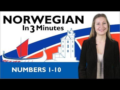 Learn Norwegian - Norwegian in Three Minutes - Numbers 1-10