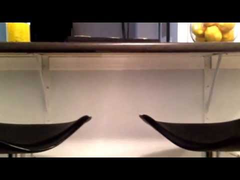 How to install a laminate countertop or breakfast bar on a wall cut out Part II
