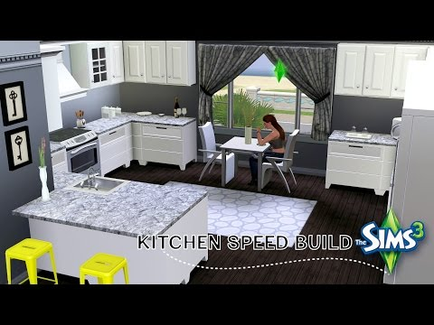 The Sims 3 Modern Beach House Speed Build Part 2 (The Kitchen) PayneInYourGame