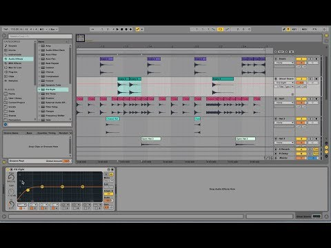 Making Drum Beats with Ableton Live - Part 1 (Glitch 110bpm)