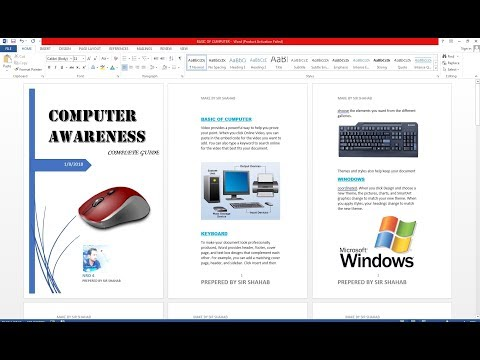 How to Make a Booklet in Microsoft Word Hindi