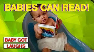 Babies Pretending To Read | Hilarious Baby Compilation