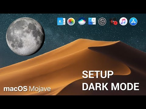 How to switch to and customize dark mode in macOS Mojave