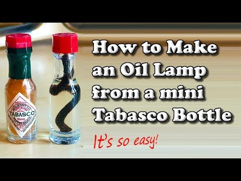 How to Make an Oil Lamp from a Mini Tabasco Sauce Bottle 🔥🏴🏕️