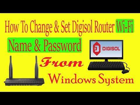 How To Change Digisol Router Wi Fi Name And password From Windows System [By Inchanji Technical]