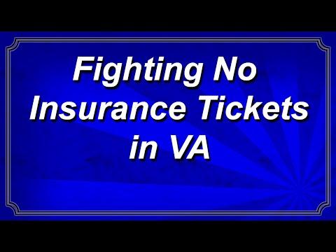 Fighting No Insurance Tickets in Virginia
