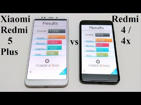 Xiaomi Redmi 5 Plus / Redmi Note 5 vs Redmi 4 / 4X - BENCHMARK COMPARISON