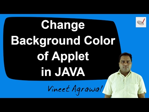 How to Set Background color of an Applet in JAVA (Hindi)