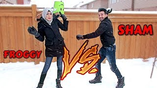 INSANE SNOWBALL FIGHT (Hilarious!!)